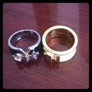 Two BCBGMAXAZRIA rings